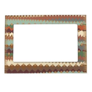 Verde de New México y camuflaje del zigzag de Brow Marcos Magneticos