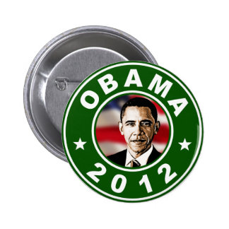 Verde de Obama 2012 Pin Redondo De 2 Pulgadas