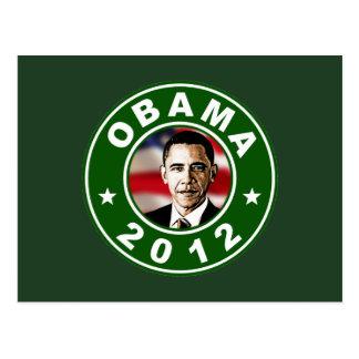 Verde de Obama 2012 Tarjeta Postal