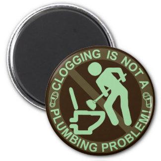 Verde de obstrucción divertido de Clogger Imán Redondo 5 Cm