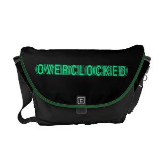 Verde de Overclocked Bolsa De Mensajería