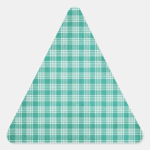 Verde de Pascua Pegatina Triangular