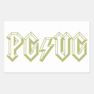 Verde de PG/VG Rectangular Pegatinas