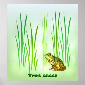 Verde de princesa Charming Think Posters