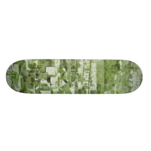 Verde de pueblo del vintage de Sf Monopatin Personalizado