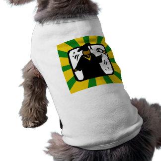 Verde de recepción graduado y oro del diploma 1 camiseta de perro