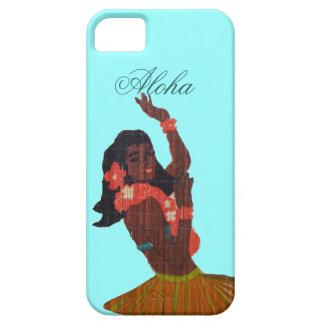 Verde de Seafoam de la hawaiana del bailarín de Hu iPhone 5 Case-Mate Coberturas
