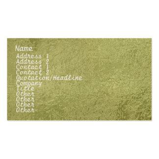 Verde de seda de la chispa del satén ART101 Tarjetas De Visita