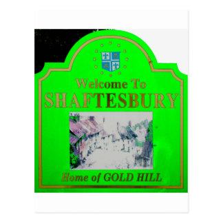 Verde de Shaftesbury Tarjeta Postal