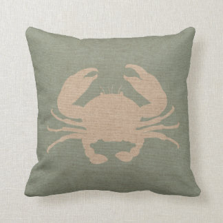 Verde de Shell Seafoam del cangrejo Cojín