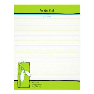 Verde de Snowdrop para hacer la lista Membrete Personalizado