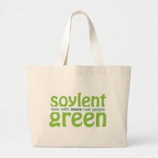 Verde de Soylent Bolsa Tela Grande