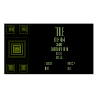 Verde de Squareception (modelo cuadrado) Tarjetas De Visita