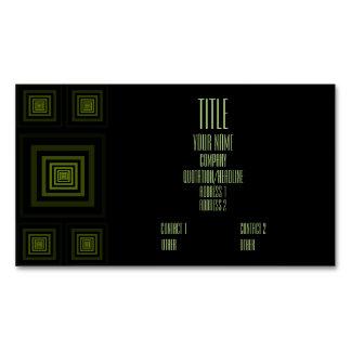 Verde de Squareception (modelo cuadrado) Tarjetas De Visita Magnéticas (paquete De 25)