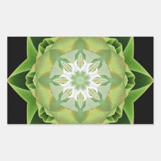Verde de Stardust del fractal Pegatina Rectangular