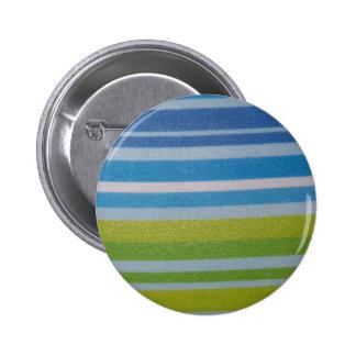 ¡Verde de Stripey! Pin Redondo De 2 Pulgadas
