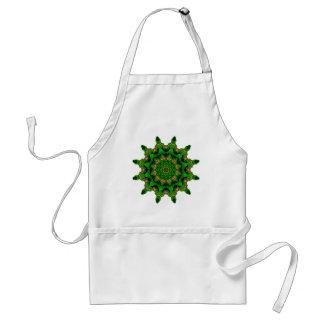 Verde de Sun de la caja del corazón Delantal