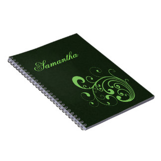 Verde de Swirly Libreta Espiral