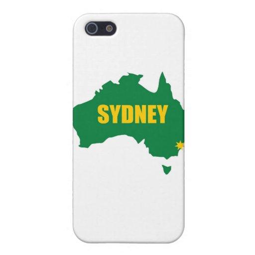 Verde de Sydney y mapa del oro iPhone 5 Carcasa