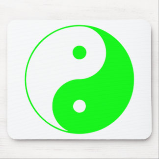 Verde de Taijitu del chino de la muestra del Taois Alfombrilla De Raton