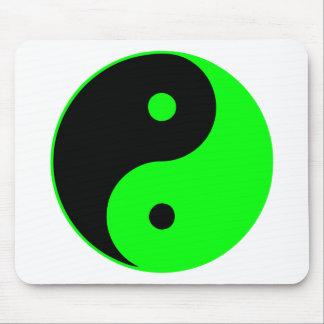 Verde de Taijitu del chino de la muestra del Taois Alfombrillas De Raton