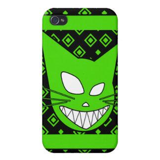Verde de Techi Kitteh iPhone 4/4S Carcasas