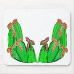 Verde de Threme - flores exóticas del CACTUS Tapete De Raton