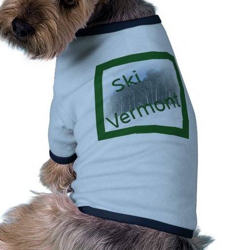 Verde de Vermont del esquí Camisetas De Mascota