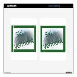 Verde de Vermont del esquí Pegatinas Skins Para Kindle Fire