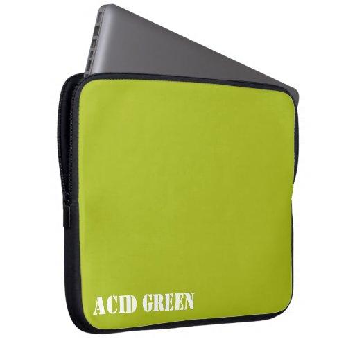 Verde del ácido funda ordendadores
