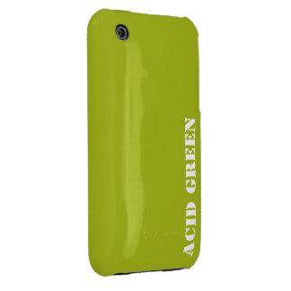 Verde del ácido iPhone 3 Case-Mate carcasas