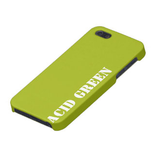 Verde del ácido iPhone 5 cárcasa