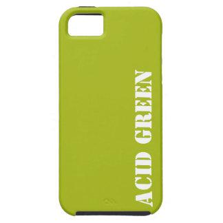 Verde del ácido iPhone 5 coberturas