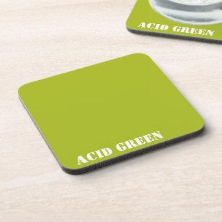 Verde del ácido posavasos de bebida