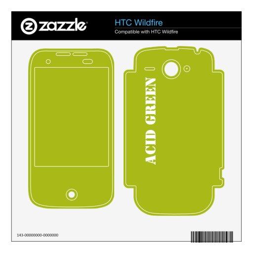 Verde del ácido skins para HTC wildfire
