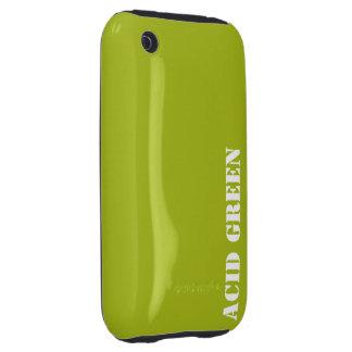 Verde del ácido tough iPhone 3 cárcasas