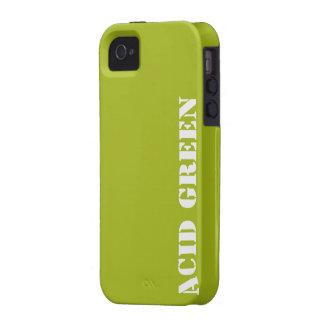 Verde del ácido vibe iPhone 4 carcasas