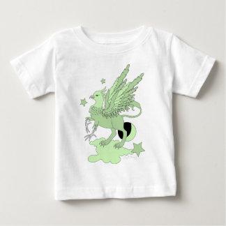 Verde del aguacate de Gryphon Playera Para Bebé