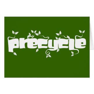 Verde del ambiente de Precycle Tarjeta De Felicitación
