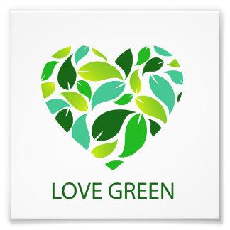 Verde del amor cojinete