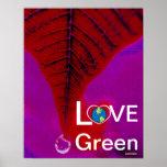 Verde del amor - descenso Poster-Cust. del rasgón