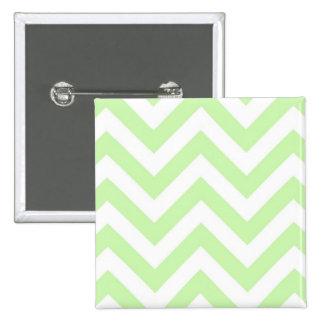 Verde del apio, modelo de zigzag grande blanco de pin cuadrado