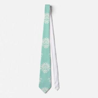 verde del aquamarine y damasco complejo poner crem corbatas