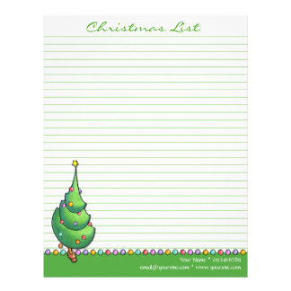 Verde del árbol de navidad para hacer la lista plantillas de membrete