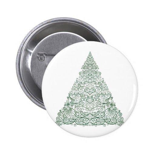 Verde del árbol de Swirly Pin Redondo 5 Cm