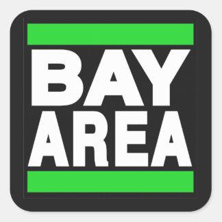 Verde del área de la bahía pegatina cuadrada