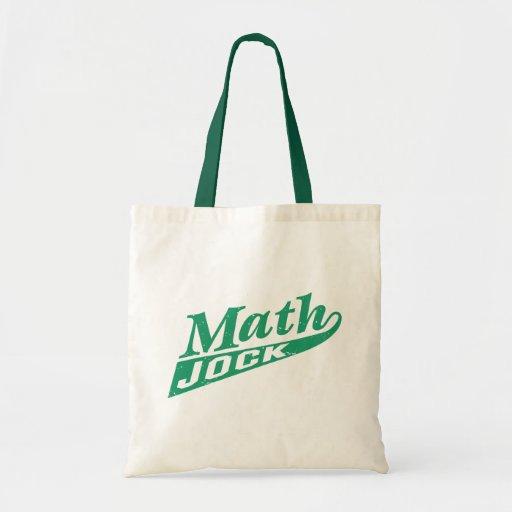 Verde del atleta de la matemáticas bolsa