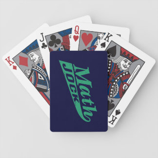 Verde del atleta de la matemáticas barajas de cartas