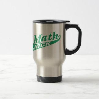 Verde del atleta de la matemáticas taza de viaje de acero inoxidable