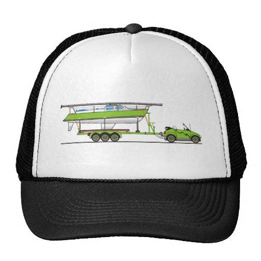 Verde del barco de vela del coche de Eco Gorras De Camionero